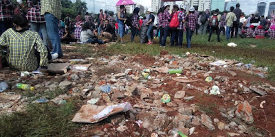 Dihadiri Megawati dan Artis Papan Ibukota, Kampanye Ahok-Djarot Sisakan Sampah Berton-Ton