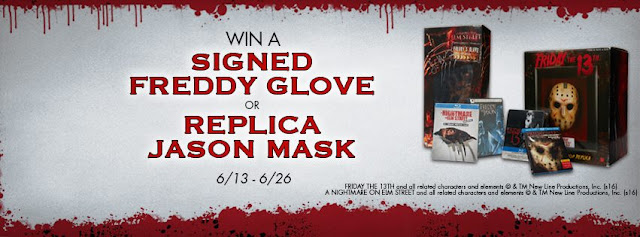 Spirit Halloween Stores want horror and slasher movie buffs to enter every 24 hours for the chance to win a Nightmare On Elm Street autographed Freddy Glove or a Friday The 13th Jason Mask!