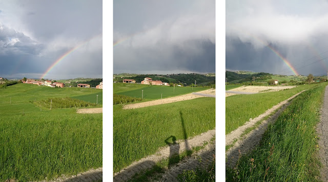 photomerge photoshop nic collection filtri spring rainbow primavera prati arcobaleno unione merge briaglia mondovì carassone garzegna