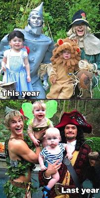 Fotos divertidas de padres e hijos.