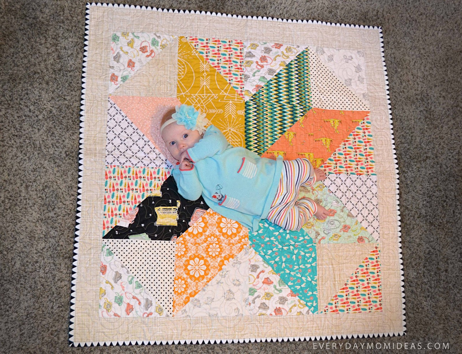 Easy Beginner Baby Quilt With Simple Steps Free