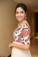Ritu Varma smiling face Cream Anarkali dress at launch of OPPO New Selfie Camera F3 ~  Exclusive 069.JPG
