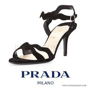 Kate Middleton wore Prada Suede Wavy Strap Sandal