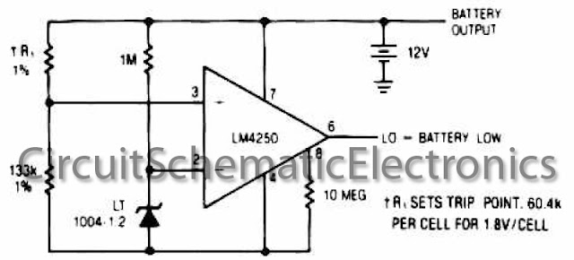Low battery detector circuit
