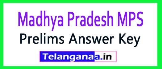 MP PSC Madhya Pradesh Prelims Answer Key 2018