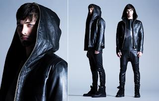 model jaket kulit hoodie pria