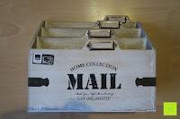 Erfahrungsbericht: Eurosell Holz Schreibtischorganizer Brief Post Ablage Briefablage Postablage Briefständer Vintage Retro Design Designer Dokumenten Prospekte Ständer