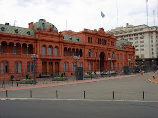Vista Frontal da Casa Rosada, Buenos Aires