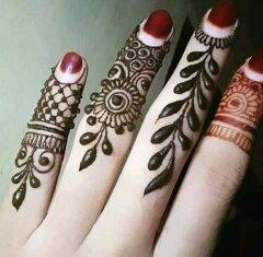 Membuat Motif Henna Pada Jari Jari