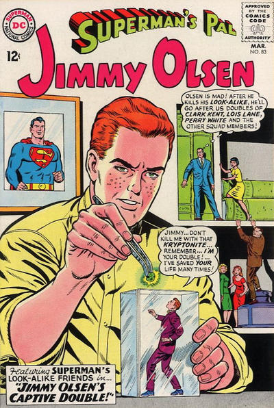 Episode #380 Part I: Superman Family Comic Book Cover Dated March 1965: Superman's Pal Jimmy Olsen #83!