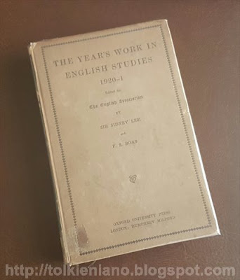 La prima recensione al primo testo accademico di Tolkien, 1922