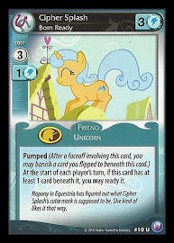 My Little Pony Cipher Splash, Born Ready Canterlot Nights CCG Card