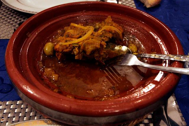 Tajine de carne en el Riad Ksar Aylan