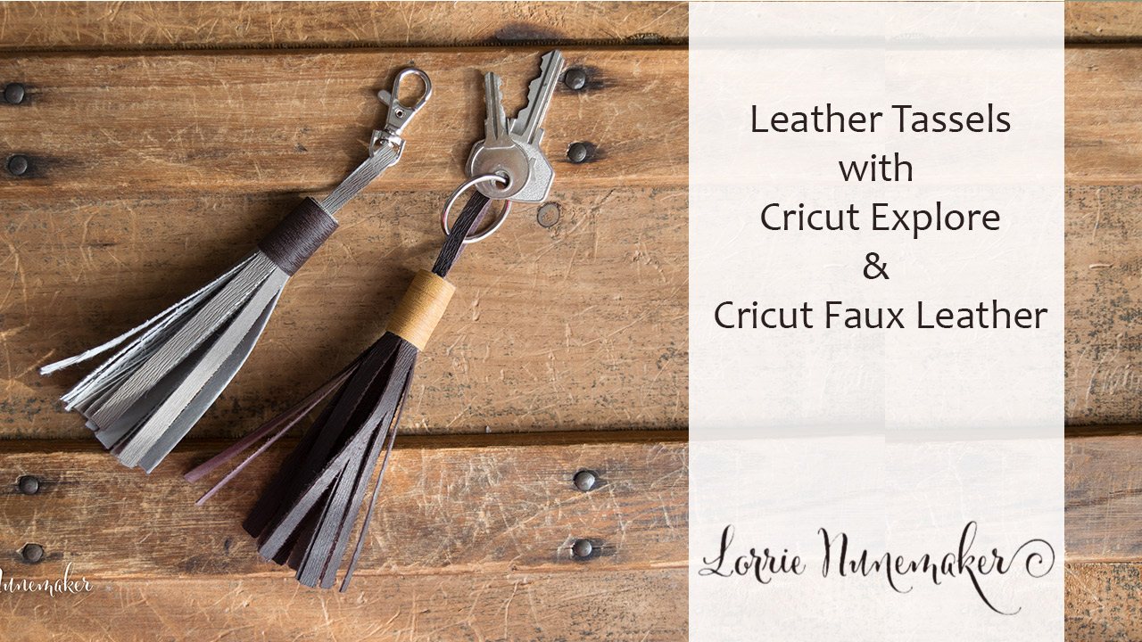 How to make faux leather tassel earrings