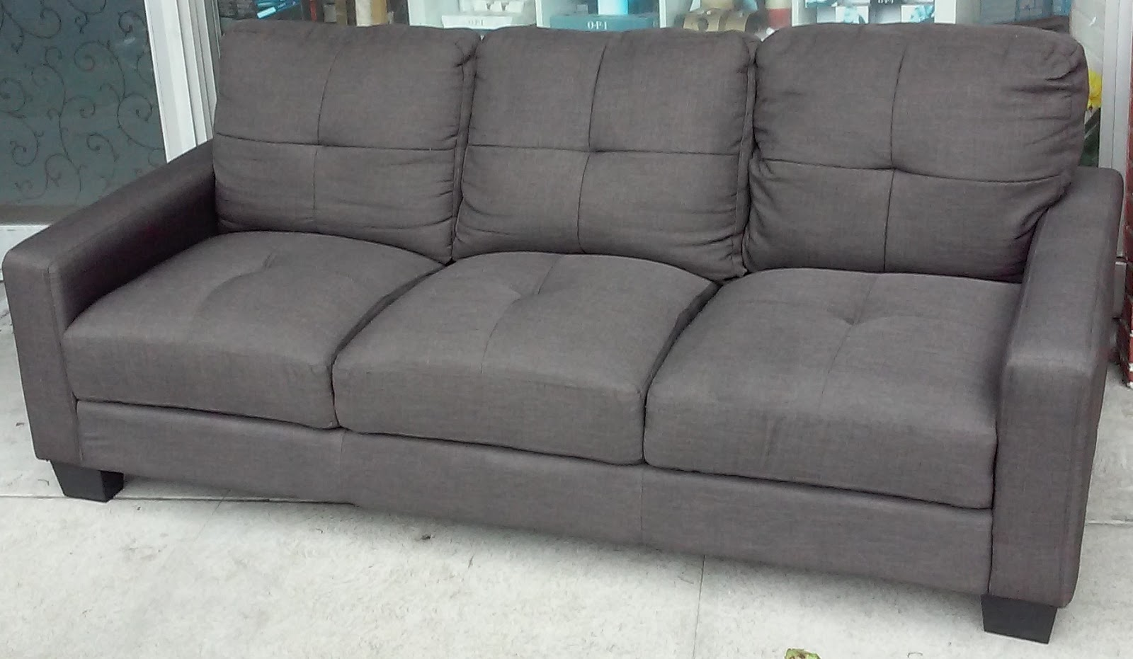 SOLD 6 1/2u0027 Modern Tweed Sofa   $125