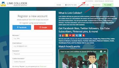 membangun traffic blog dengan link collider