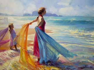 escenas-de-paisajes-profundización-femenina mujeres-en-paisajes-pinturas