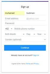 Cara Membuat Akun Email Yahoo Terbaru di Sertai Gambar