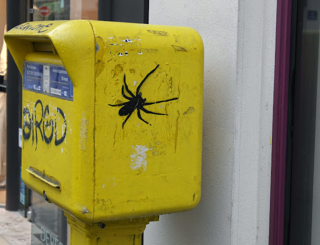 Paris street art graffiti spider
