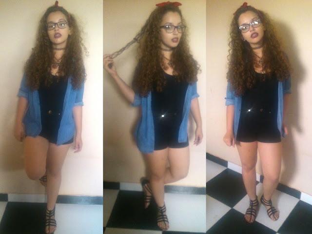 1 Peça 5 Looks! Blog Insaturada! Shorts cintura alta e blusa jeans