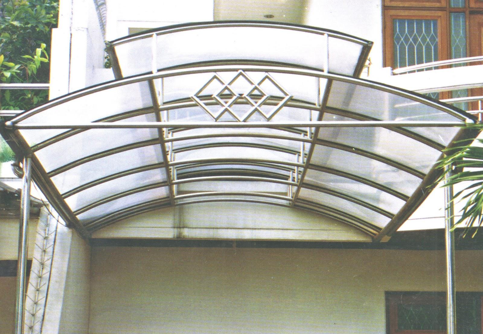 Desain Eksterior kanopi teras rumah lengkung
