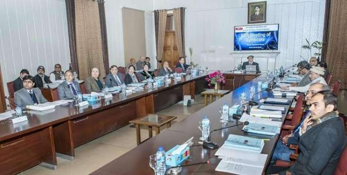 University Of Veterinary And Animal Sciences 60th Syndicate Meeting Held.
