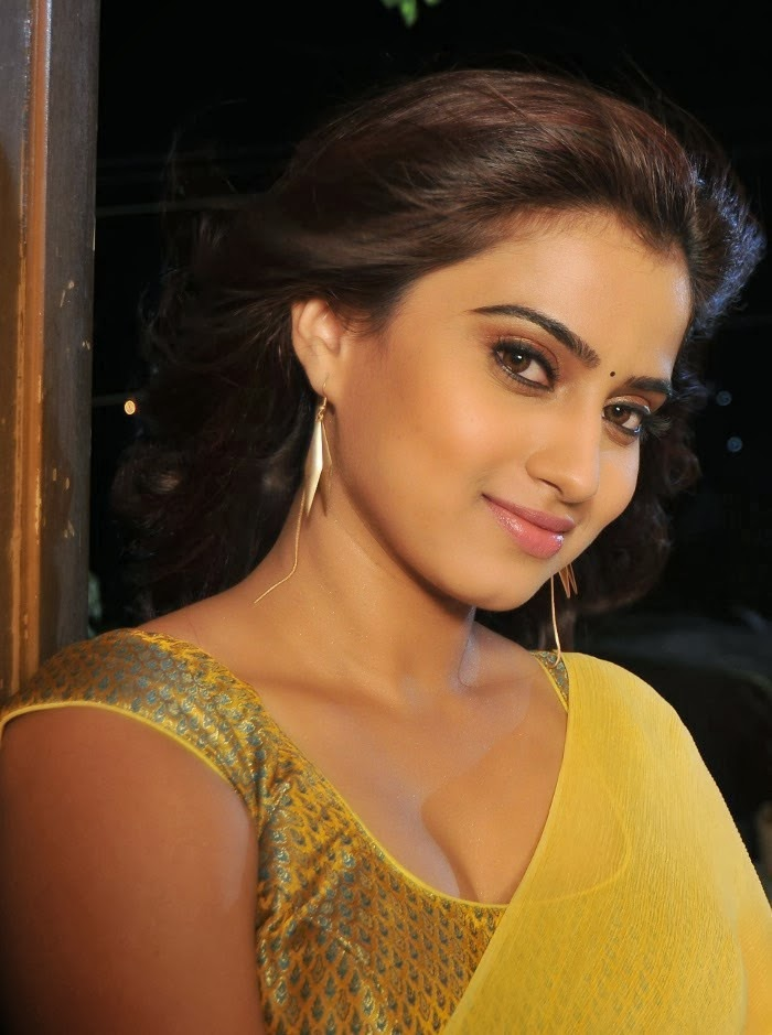 Tollywood Latest Actress Dimple Chopade Hot Yellow Saree