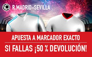 sportium promocion Real Madrid vs Sevilla 9 diciembre