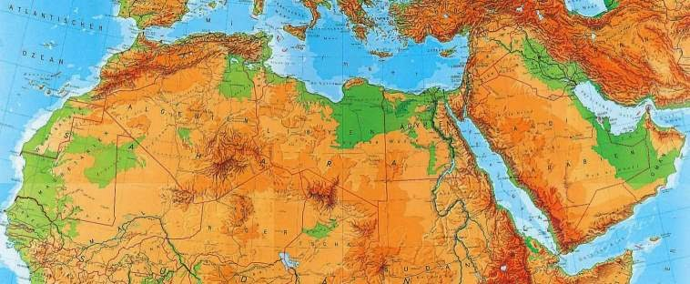 North Africa Political Map Physical