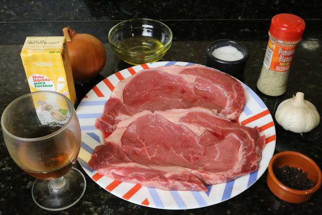 Ingredientes para entrecot de ternera a la pimienta