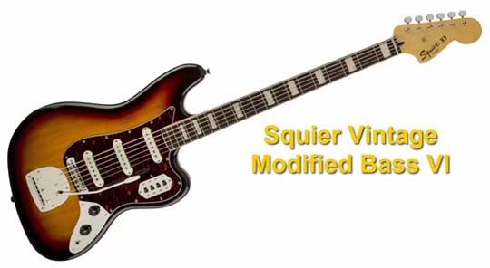 Guitarra Barítono Squier Vintage Modified Bass VI