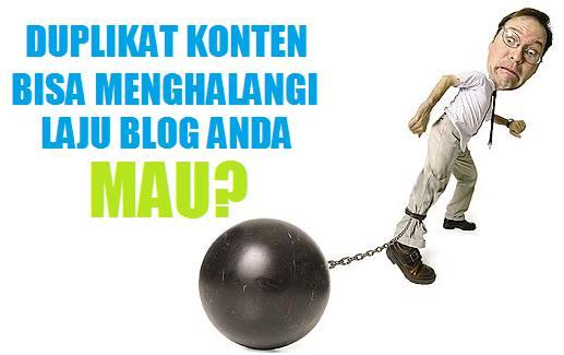 Hukuman duplikat konten bisa menghalangi laju blog anda usahakan keluar secepatnya