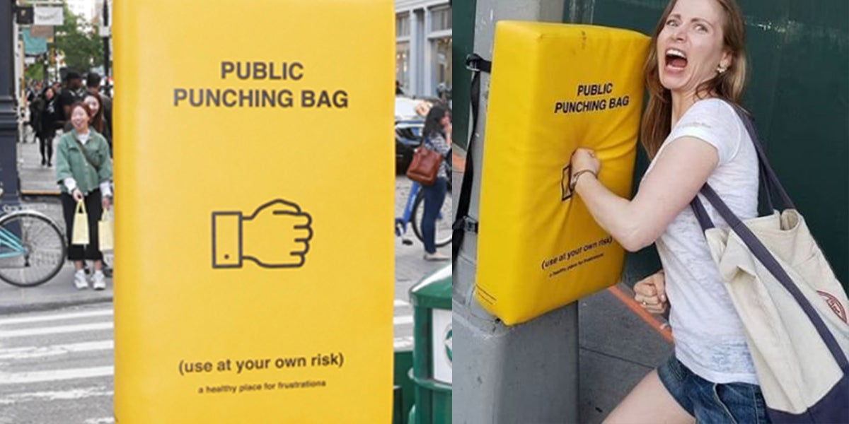 Manhattan Installs Punching Bags So That Angry New Yorkers Can Vent Their Feelings