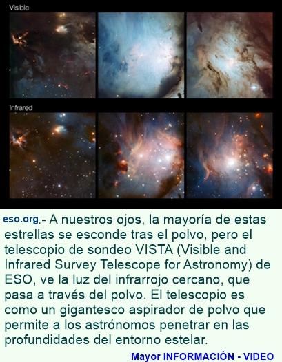 """Una """"aspiradora"""" cósmica de ESO revela la presencia de estrellas ocultas"""