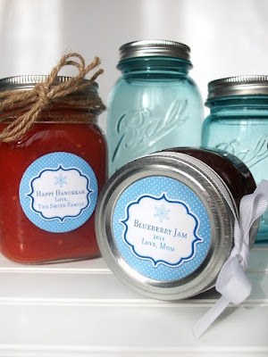 custom christmas canning label