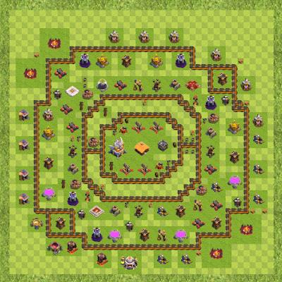 War Base Town Hall Level 11 By NIRMAL1211 (Nil TH 11 Layout)