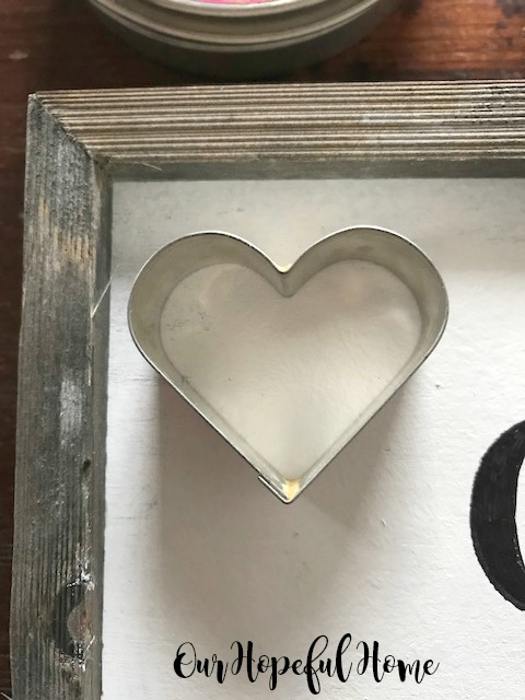 metal heart cookie cutter
