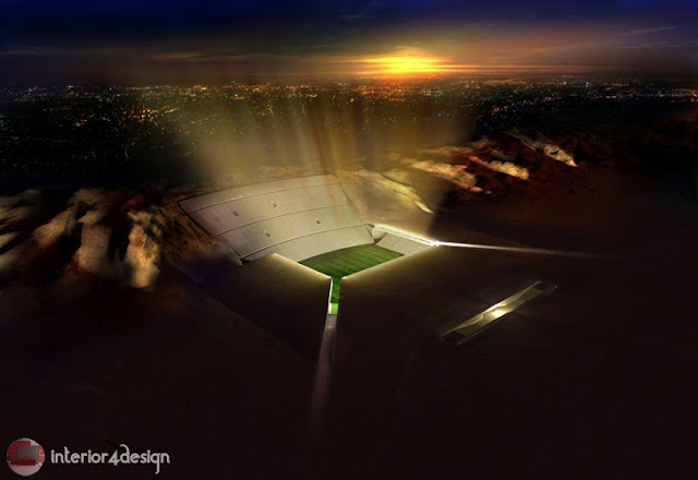 "Football Stadium In The Desert ""Desert Stadium"" .. Only In UAE"