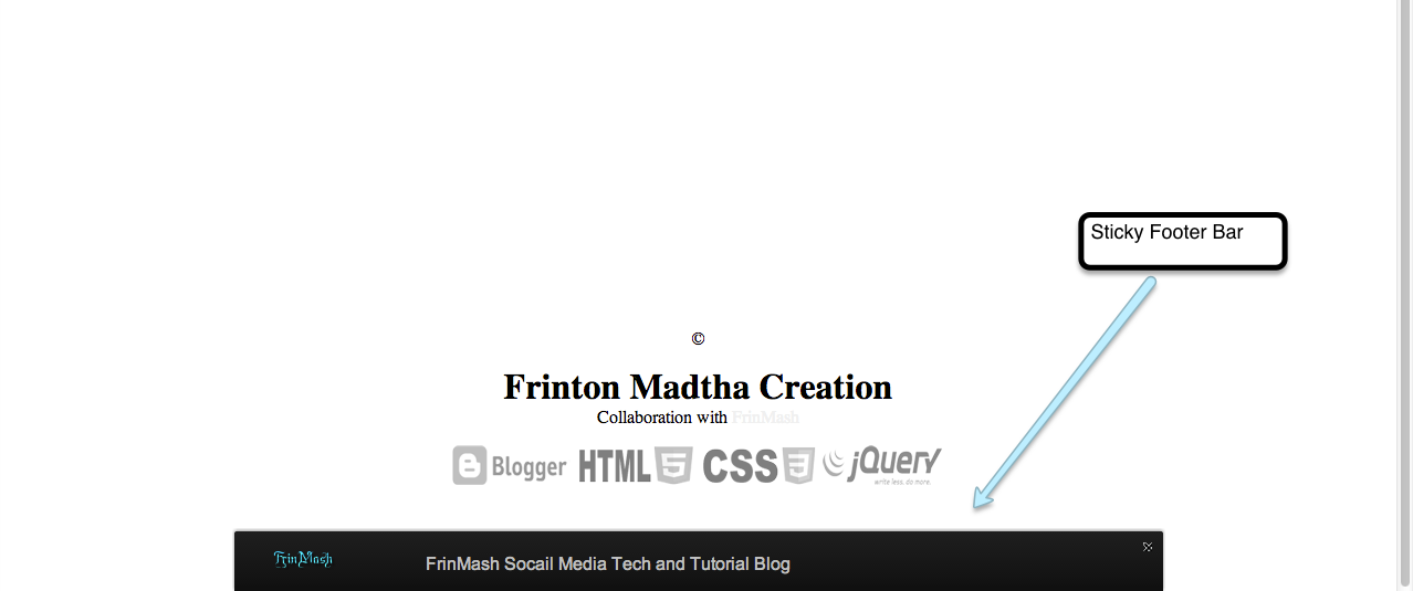 Sticky Footer Bar for Your Blog - FrinMash