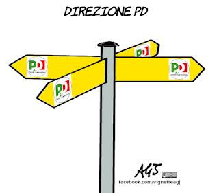 direzione PD, renzi, gentiloni, data elezioni, Minoranza Pd, satira, vignetta
