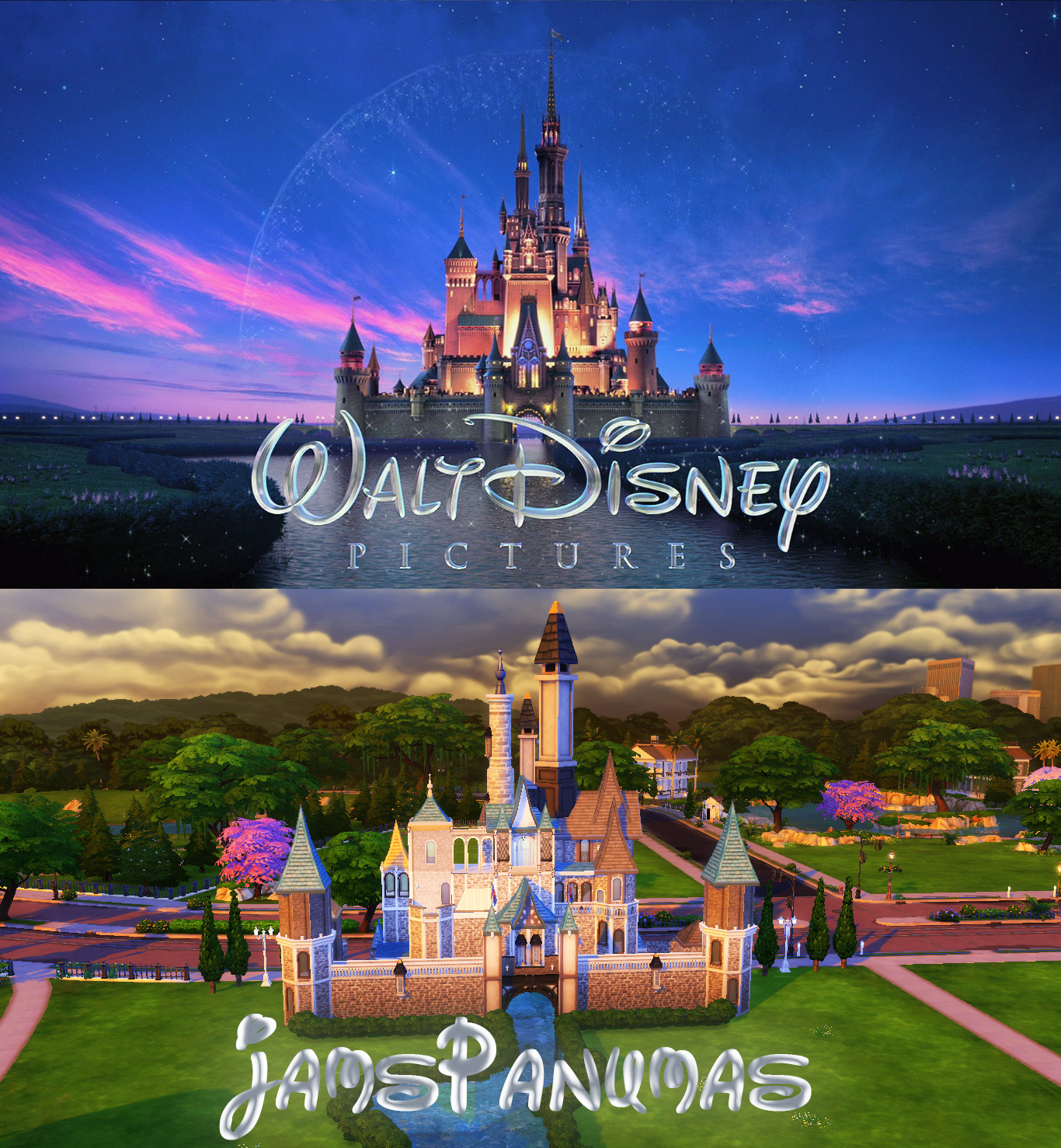 ปราสาทดิสนีย์ The Sims 4 Disney Castle The Sims 4