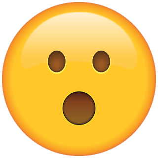 WhatsApp Surprised Face Emoji