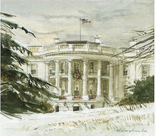 The White House Is Never More Artistic Than In Winter During Holidays Artist Unnamed