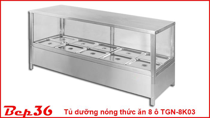 Tủ dưỡng nóng thức ăn 8 ô TGN-8K03