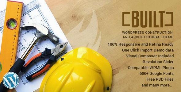 BUILT - Construction Business WordPress Theme