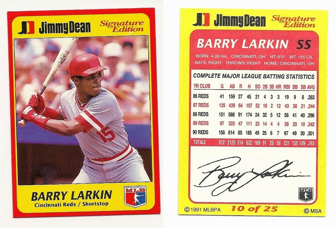 Barry Larkin Collection 209 1991 Jimmy Dean 10