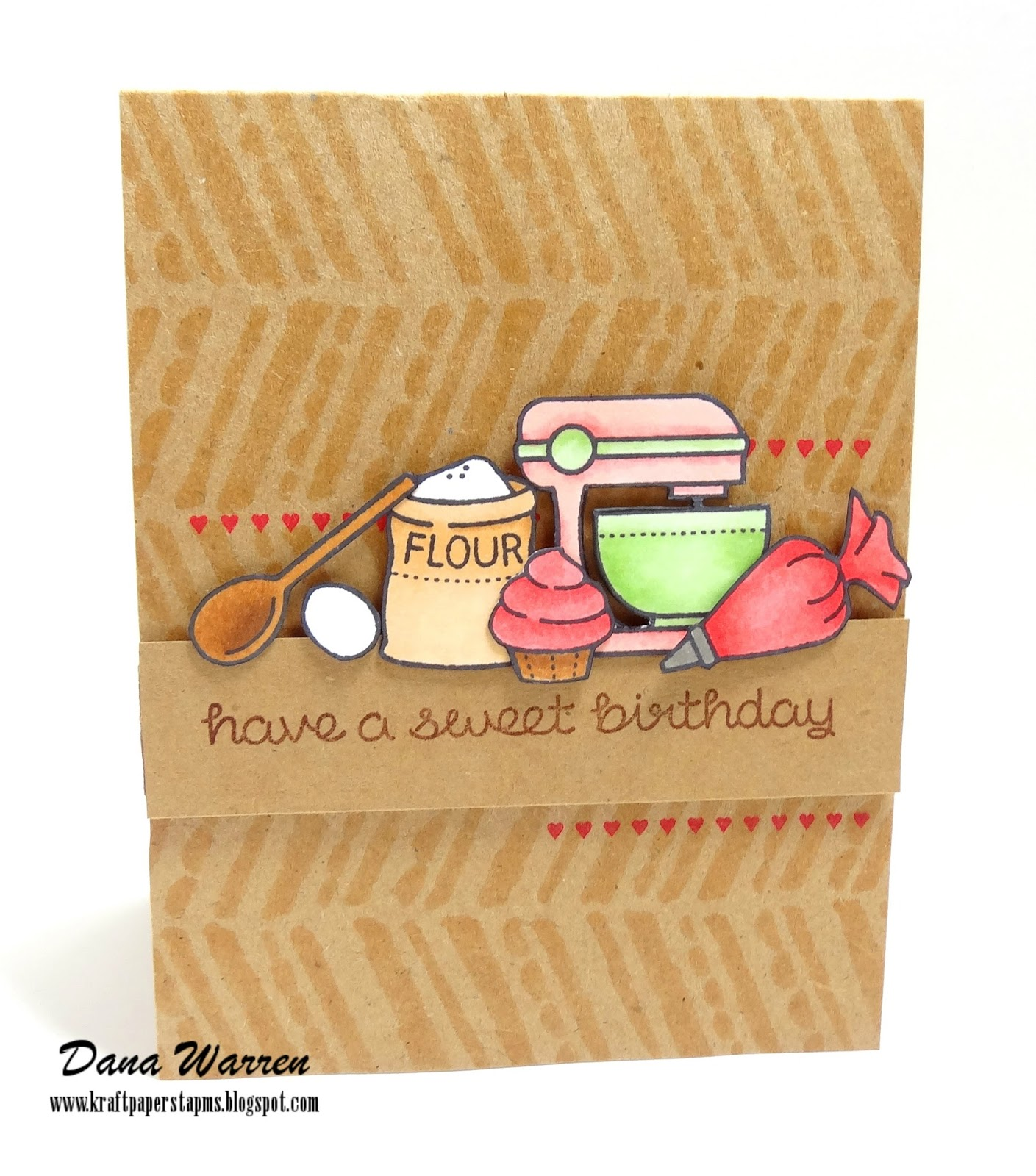 Dana Warren - Kraft Paper Stamps - Lawn Fawn - Simon Says Stamp