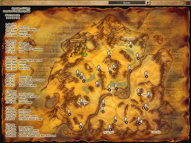 Knight Online Anahtar Görevi Resimli ( Karus )
