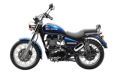 Royal Enfield Thunderbird 350 blue color side view images
