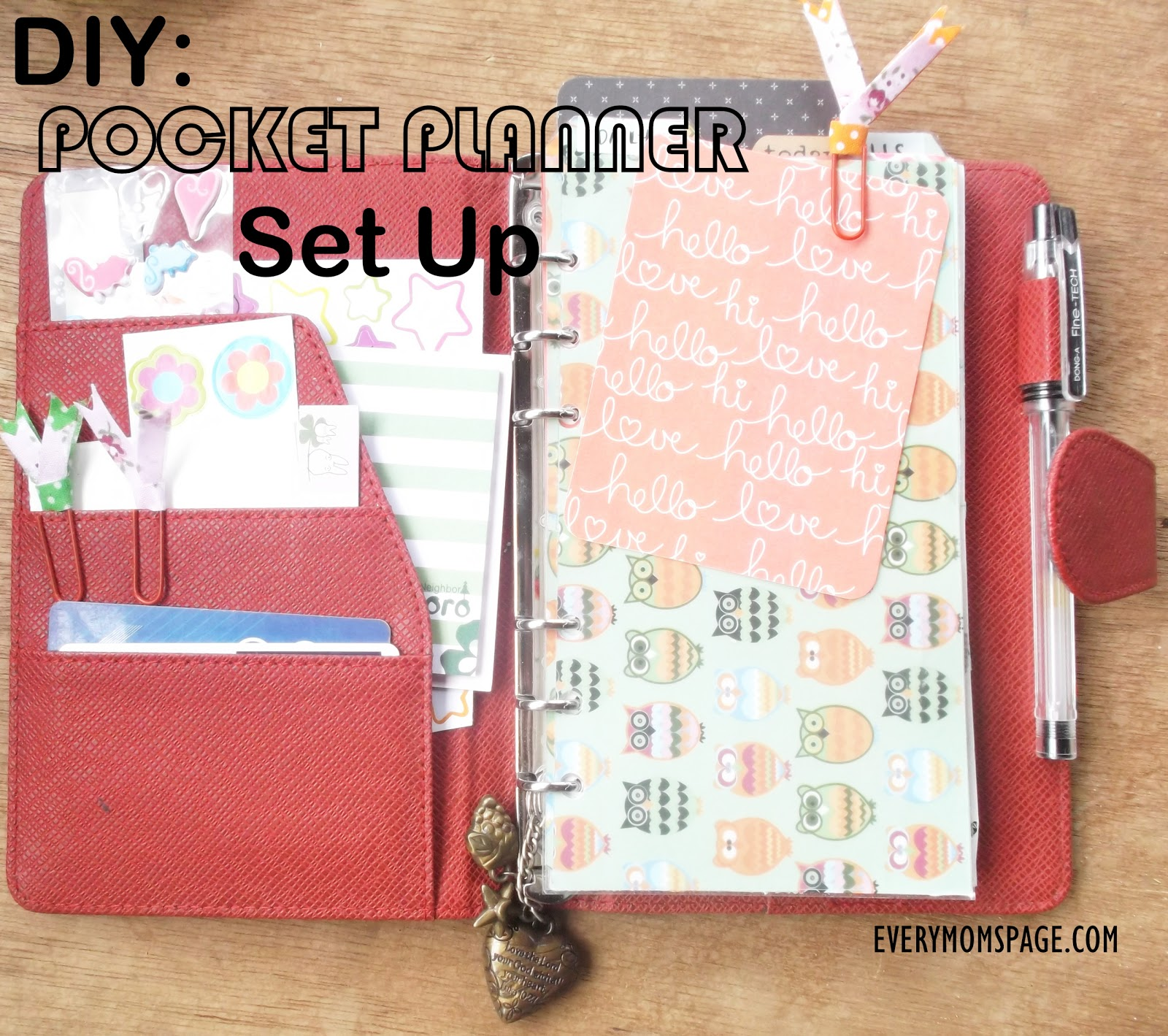 My Pocket Planner Make-Over and Set-Up